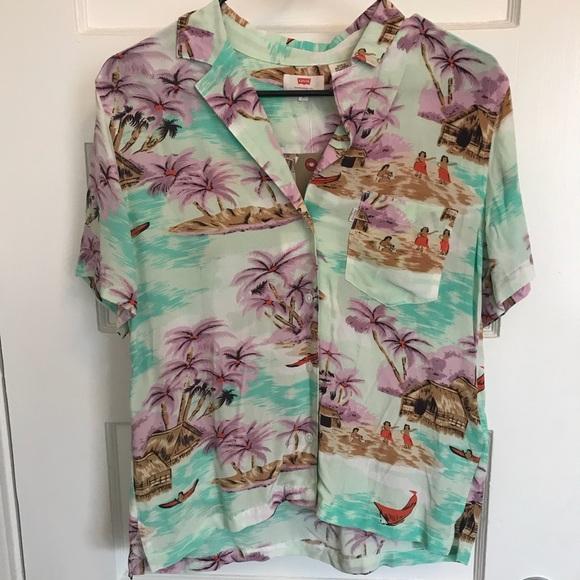 863c1e9e Levi's Tops | Levis Hawaiian Shirt Women Size Small | Poshmark